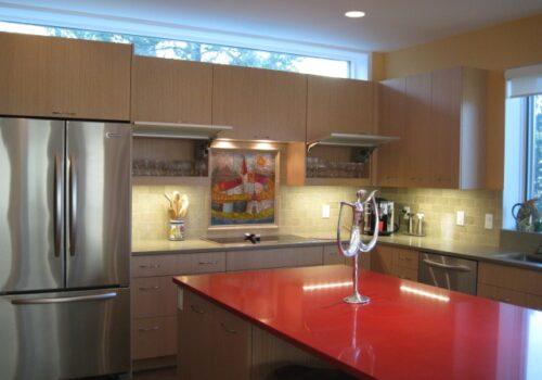Modern Eye Catching Red Kitchen Design
